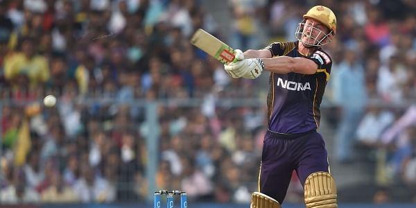Kolkata Knight Riders' C Lynn plays a shot during IPL 2018 cricket match against Kings XI Punjab in Kolkata on Saturday. | PTI