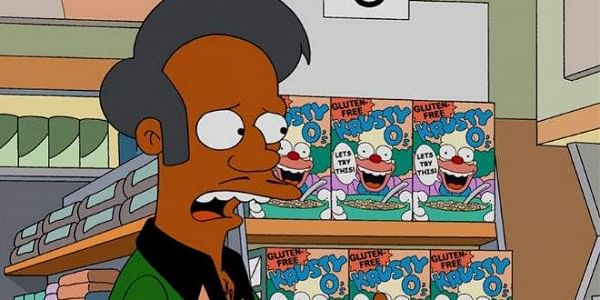 Apu, the owner of Kwik-E-Mart in the hit series, 'The Simpsons'.