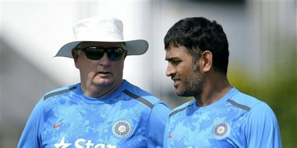 Duncan Fletcher with M.S Dhoni | File AP