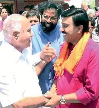 The bonhomie between mining baron G Janardhana Reddy and BJP state chief B S Yeddyurappa at an election rally in Molakalmuru on Saturday