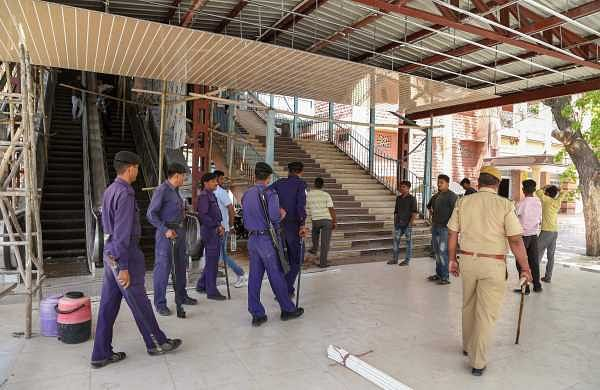 Security nehing tightened at Jodhpur railway station ahead of the verdict in Asaram Bapu's rape case (PTI Photo)