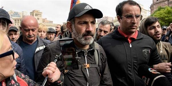 Image result for Armenian opposition leader Nikol Pashinyan