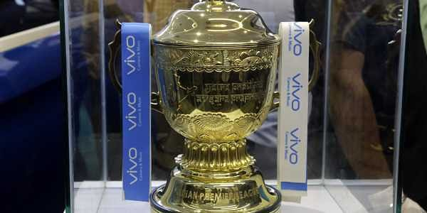 The trophy for the VIVO Indian Premier League 2018 edition is displayed after its unveiling at a function in Kolkata. | AP