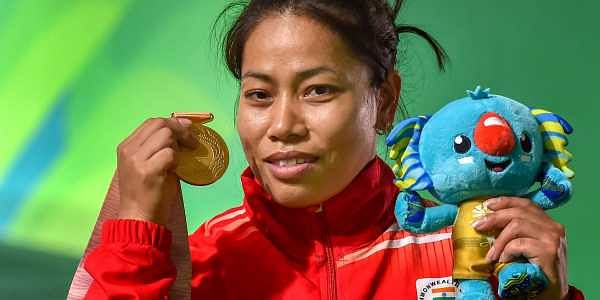 Gold medalist Indian weightlifter Sanjita Chanu. | PTI