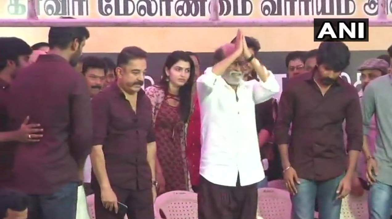 Rajinikanth, Kamal Haasan demand Cauvery Management Board, join protest