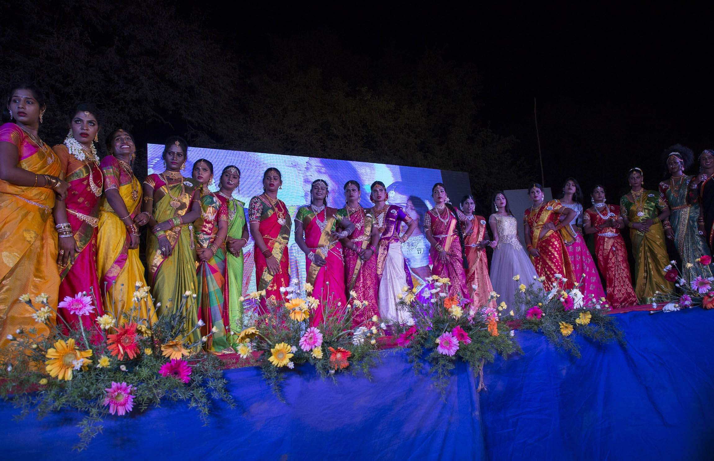 'Miss Koovagam' contest, a beauty pageant for transgenders takes place in  Tamil Nadu's. '