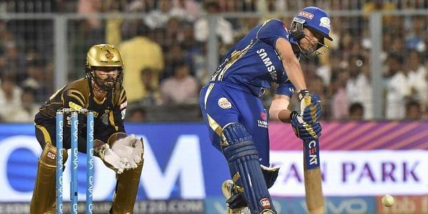mumbai indians ishan kishan plays a shot against kolkata knight riders during an ipl t20 match at eden garden in kolkata on wednesday pti
