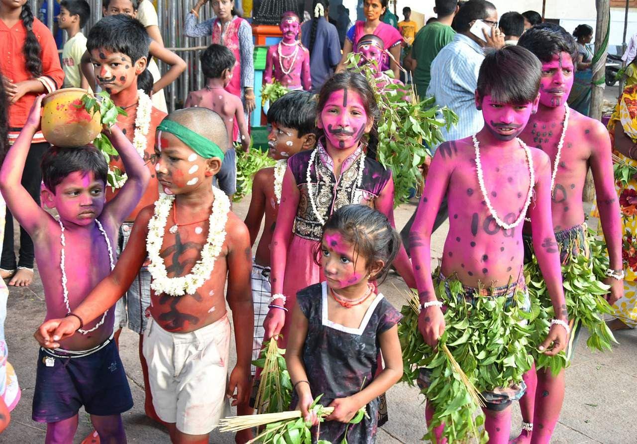 Gangamma  Jatara  On  Thursday  Banda  Veesam  At Tirupati   Express Photos by Madhav.k,