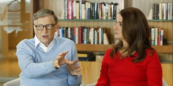 In this Feb. 1, 2018 file photo, Microsoft co-founder Bill Gates and his wife Melinda take part in an AP interview in Kirkland, Wash. Gates' non-profit Bill and Melinda Gates Foundation has given about $44 million to outside groups over the past two years to help shape new state education plans required under the 2015 law, according to an Associated Press 2018 analysis of its grants. | AP