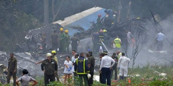 Picture taken at the scene of the accident after a Cubana de Aviacion aircraft crashed after taking off from Havana's Jose Marti airport on May 18, 2018. | AFP