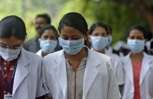 With Nipah virus cases being reported, more people are spotted wearing masks. (Photo | Manu R Mavelil)