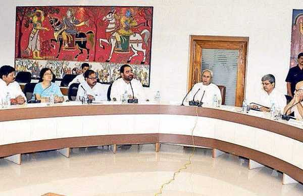 Chief Minister Naveen Patnaik at Council of Ministers meeting in Bhubaneswar on Monday | Express