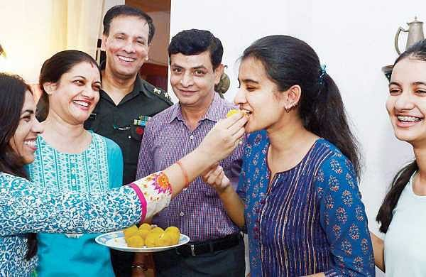 CBSE Kerala topper Maehal Barthwal with family and friends | Express