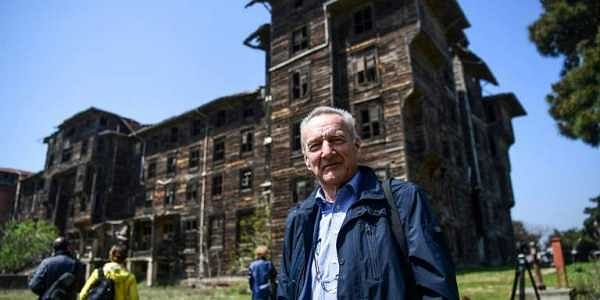 Piet Jaspaert, Vice President Of Europa Nostra Heritage Organisation Poses  In Front Of The Old Prinkipo Greek Orthodox Orphanage At Princes Island In  ...