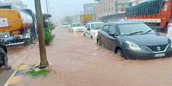 Image result for Heavy downpour udupi Kottara Chowki,