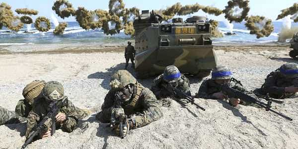 US and South Korean marines during a joint military exercise (FIle | AP)