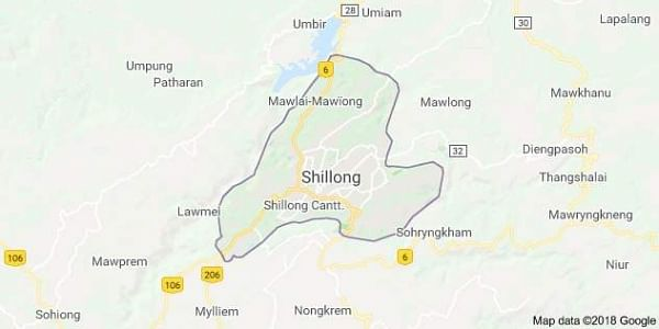 Shillong map (Google)