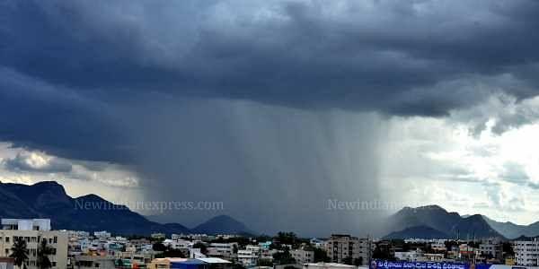 Rain in Tirupathi