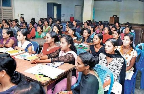 Students attending the literacy programme 'Changathi'