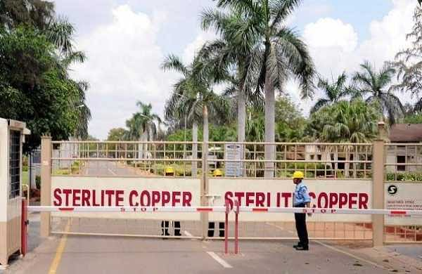 A private security guard stands in front of the main gate of Sterlite Industries Ltd's copper plant, a unit of London-based Vedanta Resources, in Tuticorin. (Photo | Reuters)