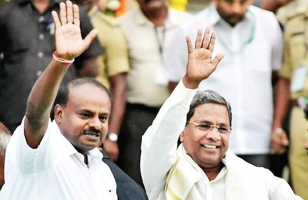 Karnataka Chief Minister HD Kumaraswamy and Congress leader Siddaramaiah (File Photo)