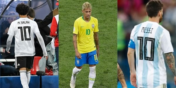 official photos 92606 4a92b Mohamed Salah, Neymar, Lionel Messi, messy, messy: World Cup ...