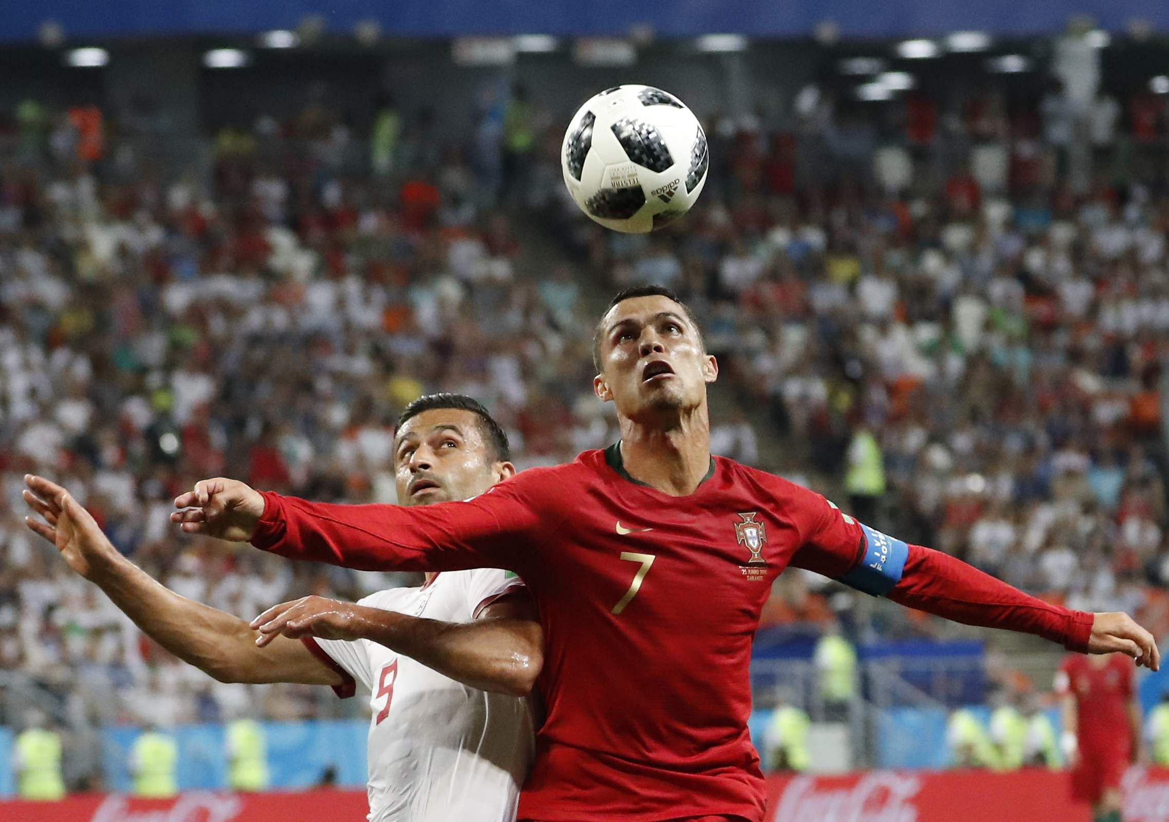 Iran almost knocked out Portugal with penalty kick and a near-miss, both in injury time, but the 1-1 draw was enough for the European champions to advance. They finished second since Spain scored one more goal in the group. (Photo | AP)