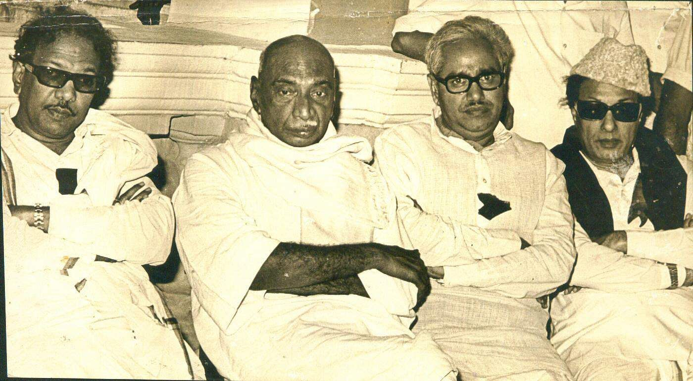 Image result for Karunanidhi with Kamarajar