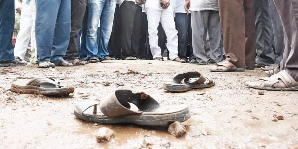 The two workers, K Rambabu and P Venkateswarlu, had died of suffocation after getting into an 18-ft deep manhole to clear clogged sewer lines at Bhavanipuram.   Express File Photo
