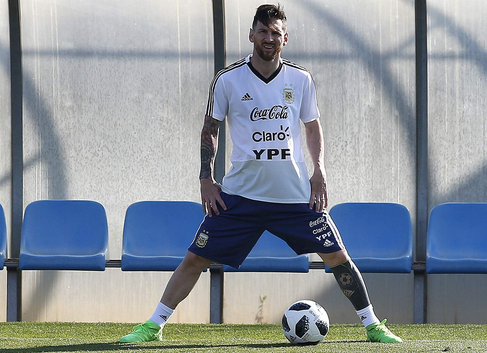 Standing at a height of 1.69 meters (5'6 feet), Messi could be the shortest forward in the world.