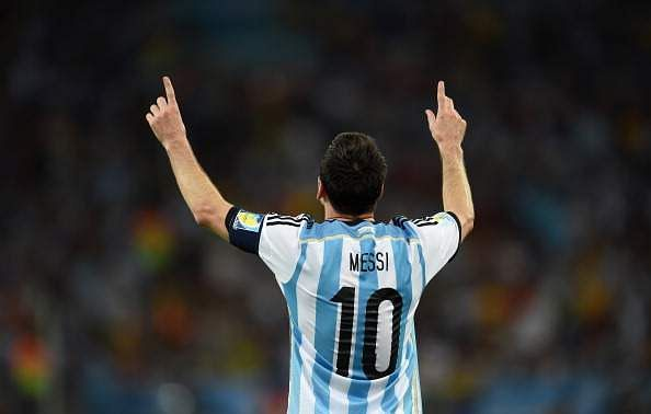 The typical 'Lionel Messi goal celebration' is a calm and composed style - simply raising both hands in the air. The gesture is to remember his dear grandmother who passed away when he was 10.