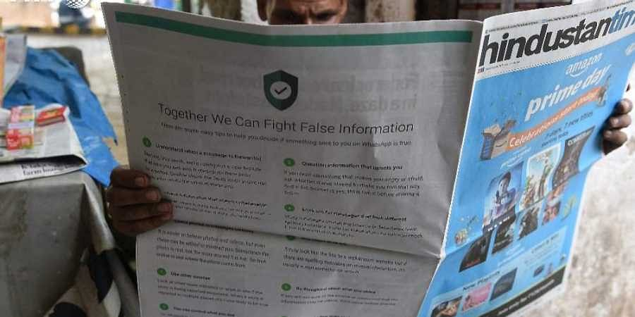 In full-page ad, WhatsApp urges users in India to fight fake news