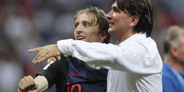 Croatia head coach Zlatko Dalic with his captain Luka Modric | AP