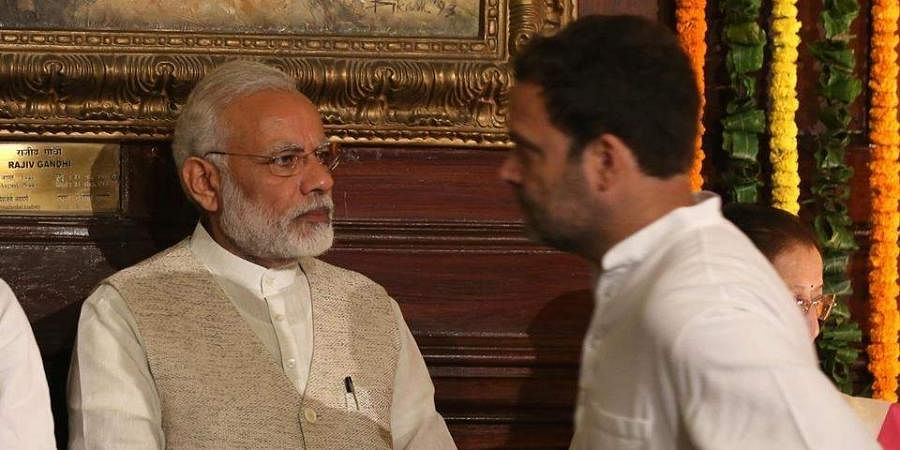 File Image of PM Narendra Modi (L) and Congress chief Rahul Gandhi (R). (Photo | EPS)