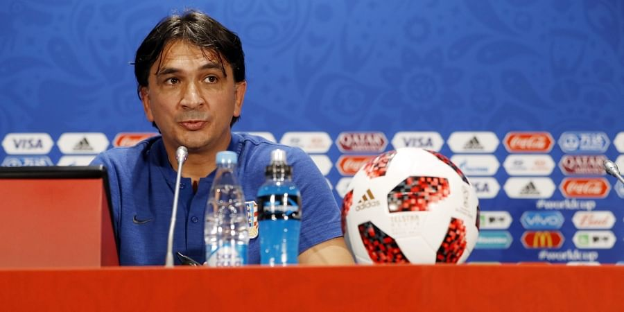09ef85ae0 Croatia head coach Zlatko Dalic answers a question during a news a press  conference at the 2018 soccer World Cup in Moscow