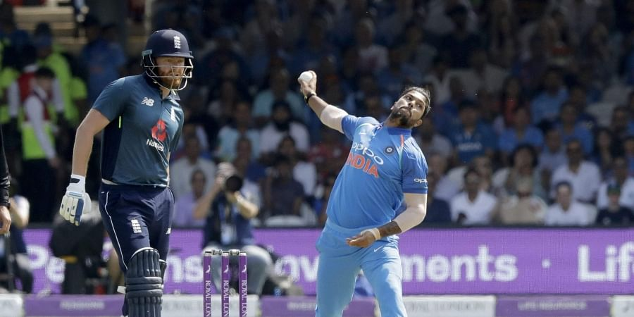 England skipper Eoin Morgan opted to bat against India in the second One-Day International (ODI) of the three-match rubber at Lord's on Saturday. (Photo | AP)