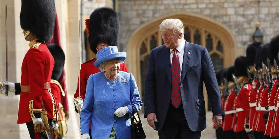 The Queen embarrasses Trump with majestic act of shithousery