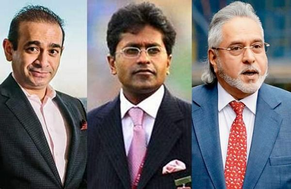 (From left) Absconding billionaire Nirav Modi, Former IPL commissioner Lalit Modi, Embattled liquor baron Vijay Malya, Gitanjali Group owner Mehul Choksi (File Photos | PTI)
