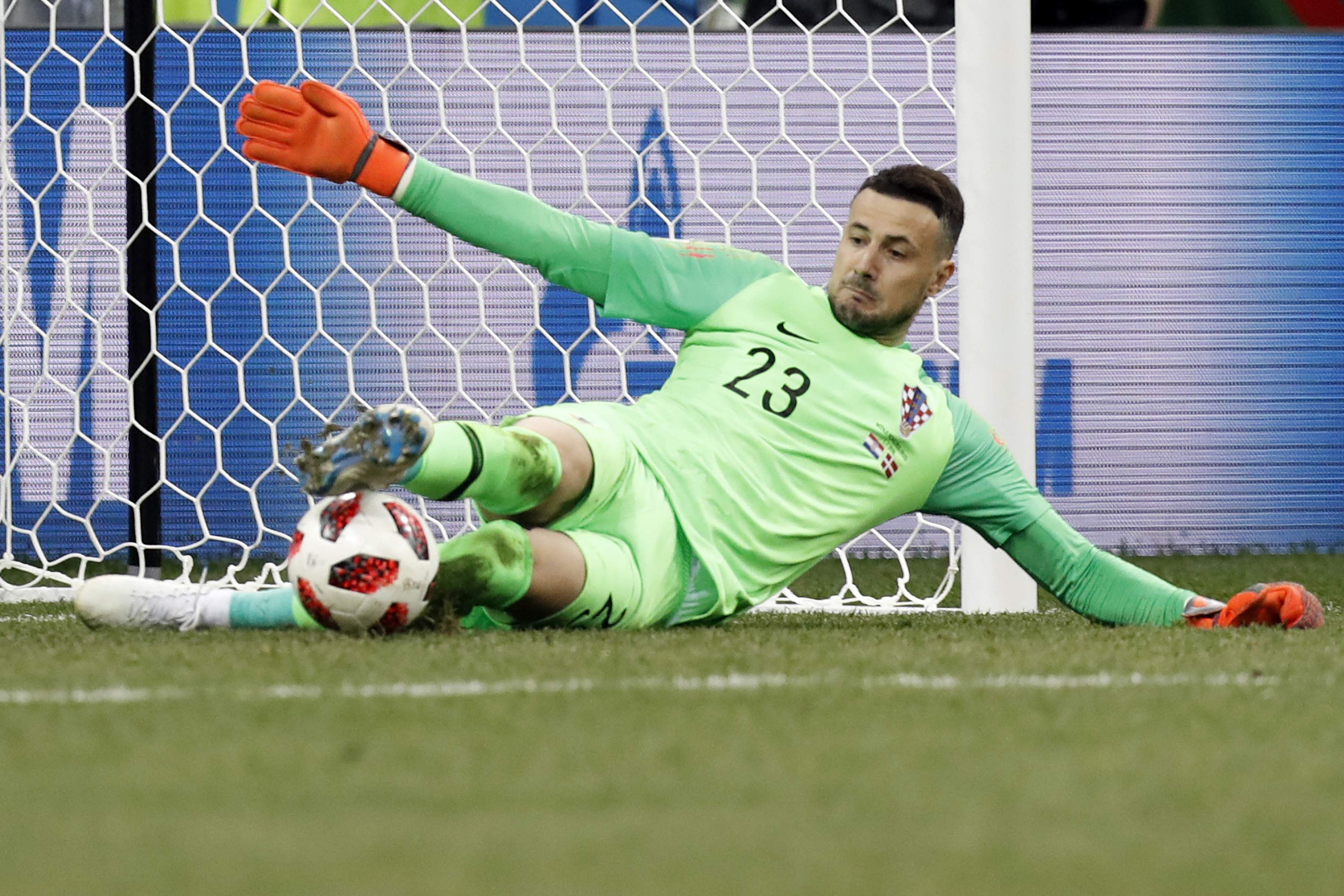 Ultimately though, Schmeichel was matched and Denmark was denied by Croatian goalkeeper Danijel Subasic, who joined Ricardo of Portugal as the only men to save three penalties in a single World Cup shootout. (Photo | AP)