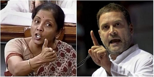 Union Defence Minister Nirmala Sitharaman (left) and Congress President Rahul Gandhi (right) have been at the centre of Congress and BJP's conflict over the Rafale fighter jet deal. (Photos | PTI)