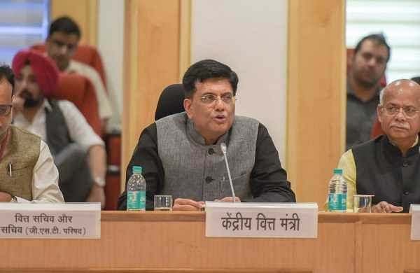 Interim finance minister Piyush Goyal chaired the GST council meet in which the decision to reduce GST rates on 100 items was taken. (PTI)