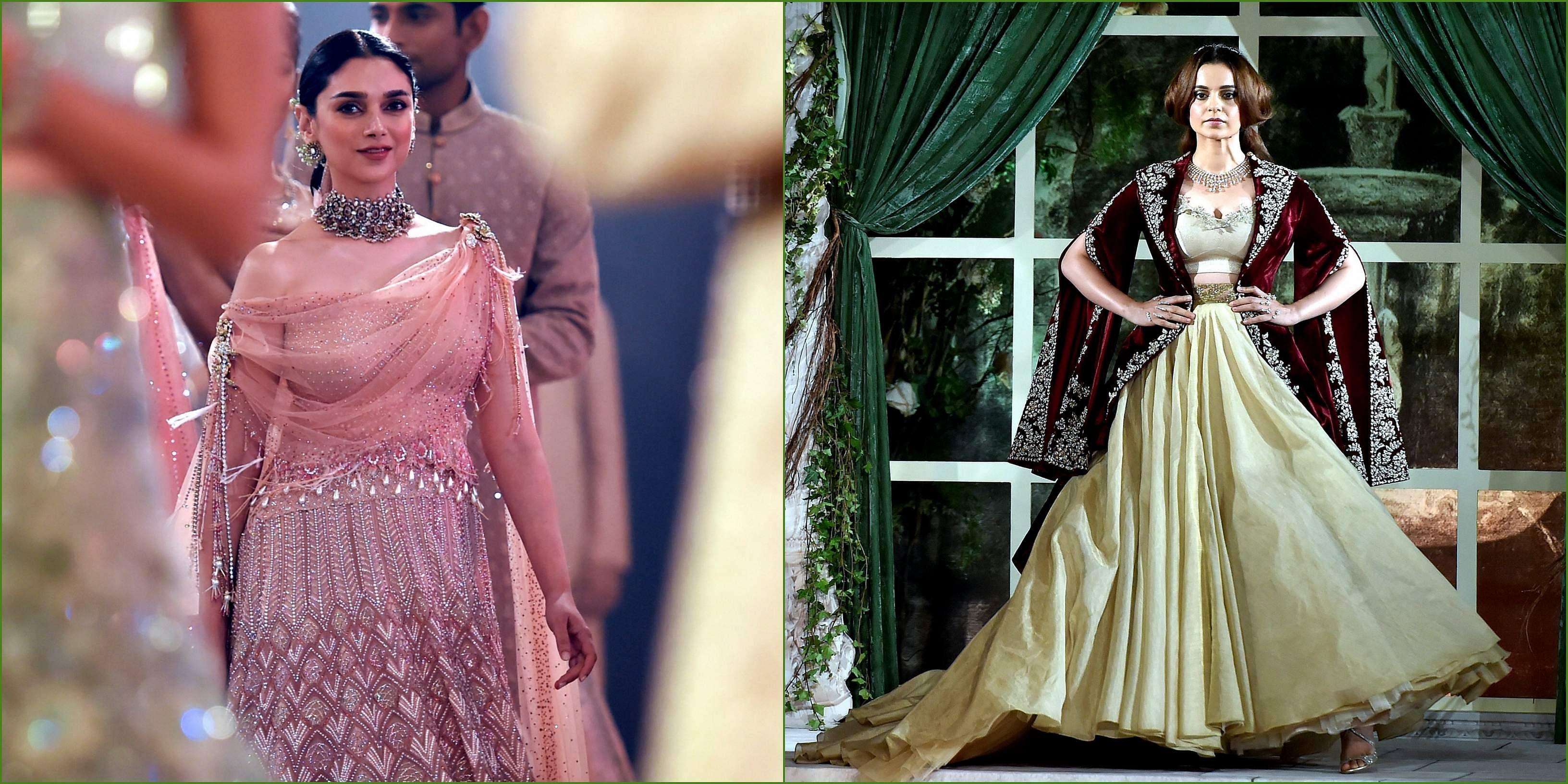 India Couture Week Day 1 Kangana Ranaut Aditi Rao Hydari Walk For Anju Modi And Tarun Tahiliani The New Indian Express