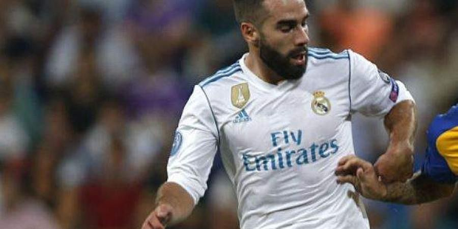 Real Madrid defender Dani Carvajal shares football tips with ... on juan francisco moreno fuertes, jonathan soriano casas, pablo gil, pablo sarabia,