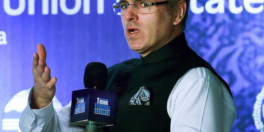 National Conference Vice-President Omar Abdullah addresses during 'Think Federal Conclave' panel discussions on 'Federalism and Autonomy Towards a peaceful Future of J K' in Kolkata. (Photo   PTI)