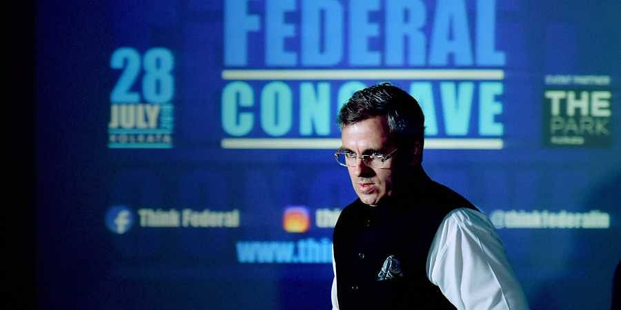 National Conference Vice-President Omar Abdullah during 'Think Federal Conclave' panel discussions on 'Federalism and Autonomy Towards a peaceful Future of J K' in Kolkata. (Photo | PTI)