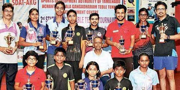 Nikhil claims men's title at state-ranking table tennis meet