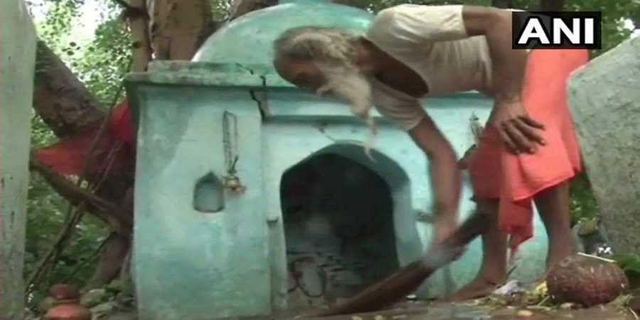 Temple purified after woman MLA Manisha Anuragi's visit