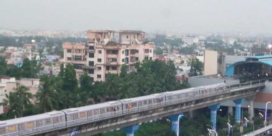 A 3-km trial run of metro coaches was undertaken from Central Park Metro station to Salt Lake Sector V Metro station along the East-West Metro route of Kolkata Metro on Wednesday evening.
