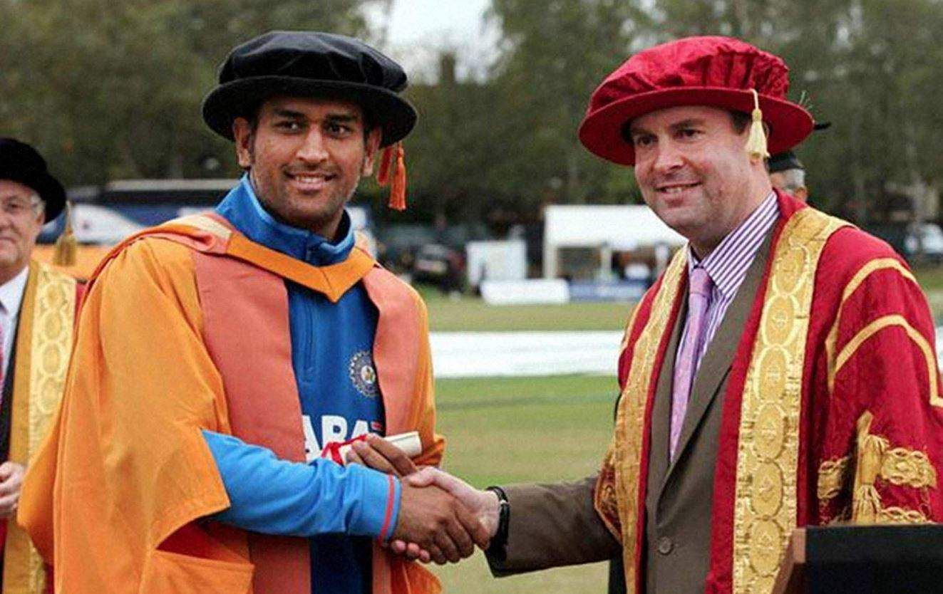 Praised for his exemplary leadership quality and achievements, Dhoni is an honorary Doctor of Letters.  He was awarded the Doctorate by De Montfort University in the United Kingdom in 2011. | PTI