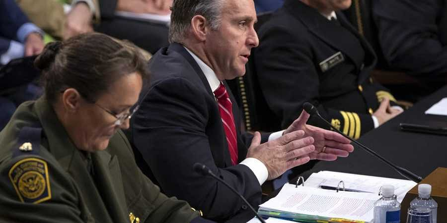 From left, Customs and Border Protection U.S. Border Patrol Acting Chief Carla Provost, U.S. Immigration and Customs Enforcement Executive Associate Director of Enforcement And Removal Operations Matthew Albence, and Federal Health Coordinating Official f